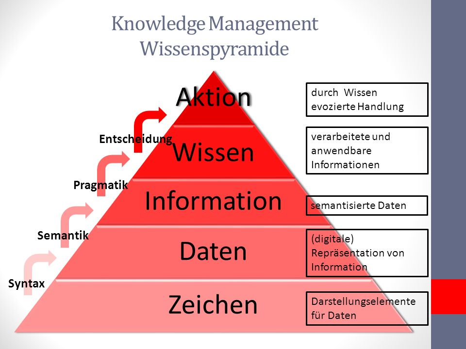 Knowledge Management Wissenspyramide