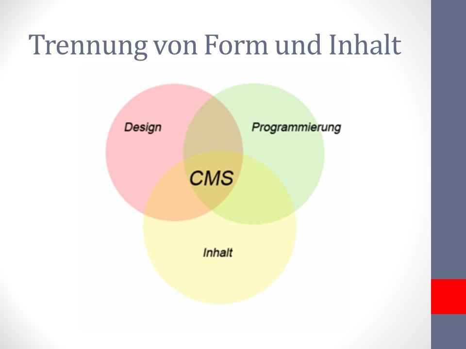 Trennung von Form und Inhalt
