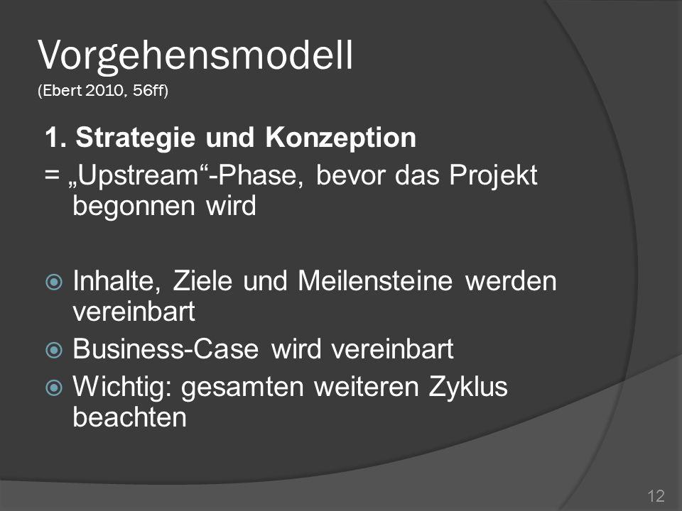 Vorgehensmodell (Ebert 2010, 56ff)