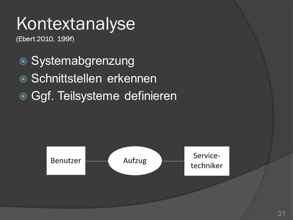 Kontextanalyse (Ebert 2010, 199f)