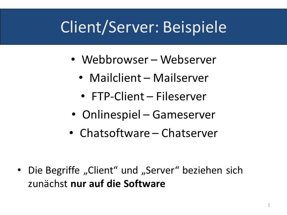 Client/Server: Beispiele