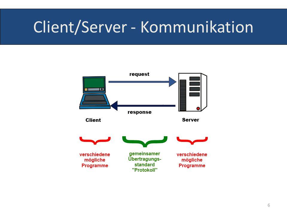 Client/Server - Kommunikation