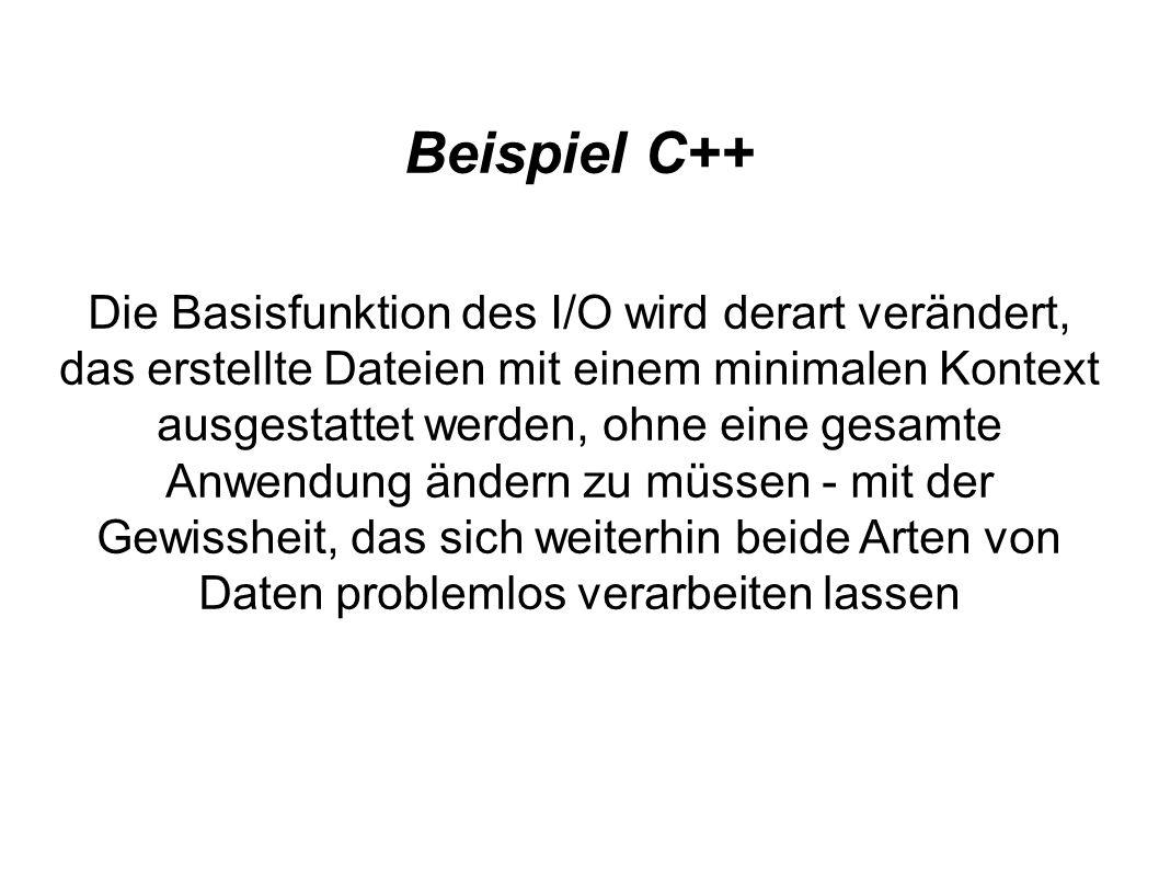 Beispiel C++