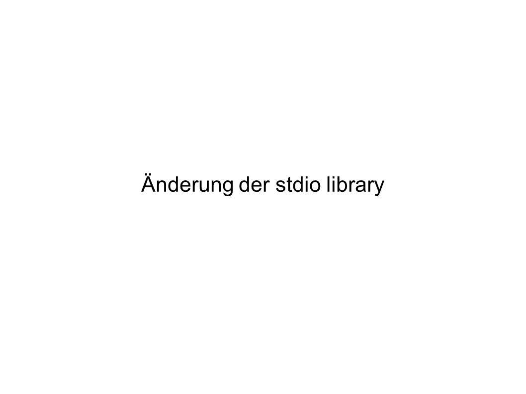Änderung der stdio library