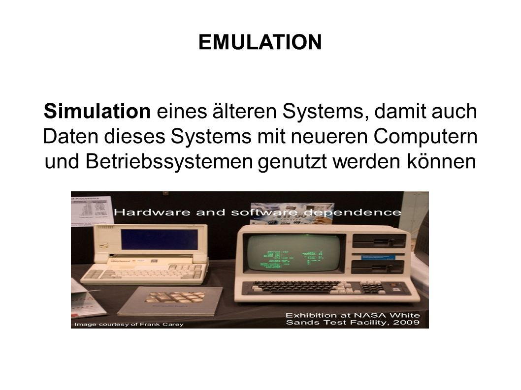 Emulation EMULATION.