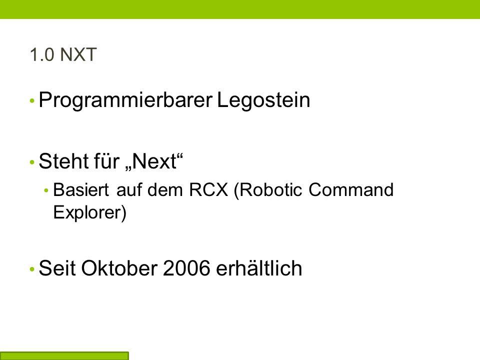 """Programmierbarer Legostein Steht für """"Next"""
