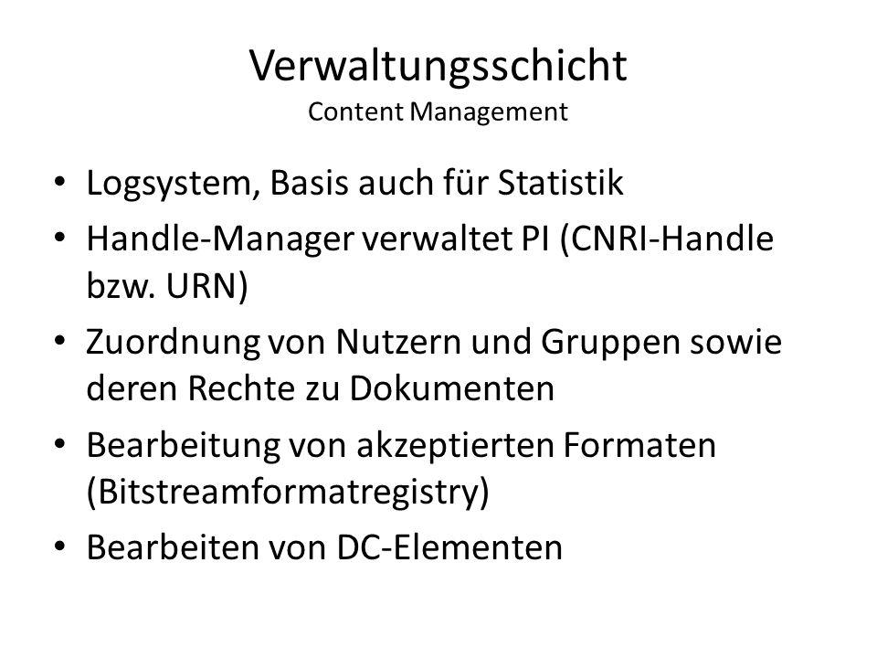 Verwaltungsschicht Content Management