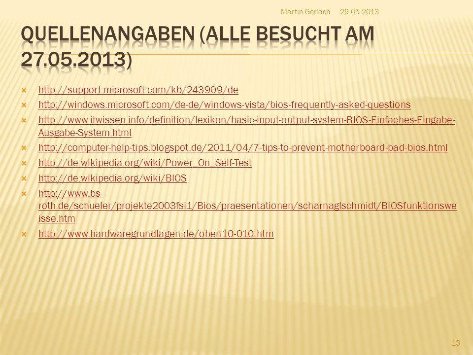 Quellenangaben (ALLE BESUCHT am 27.05.2013)