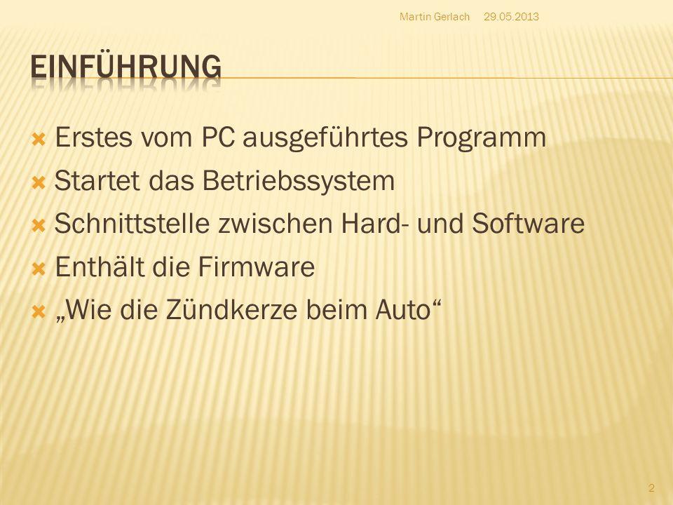 Einführung Erstes vom PC ausgeführtes Programm