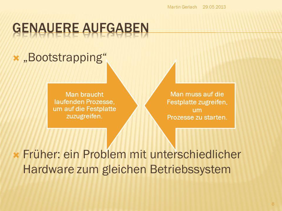 """Genauere Aufgaben """"Bootstrapping"""