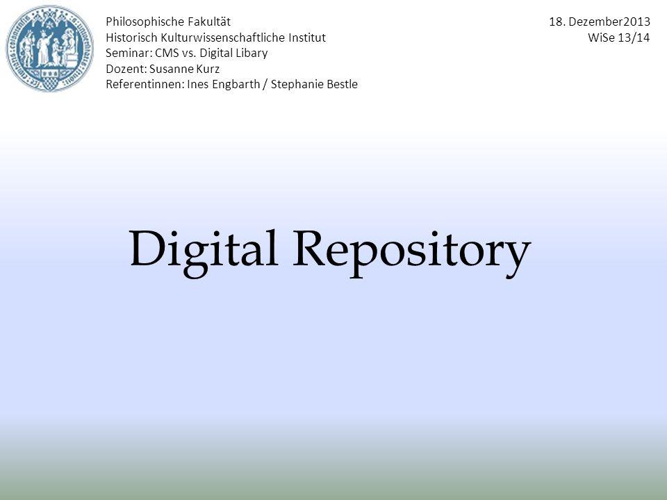 Digital Repository Philosophische Fakultät