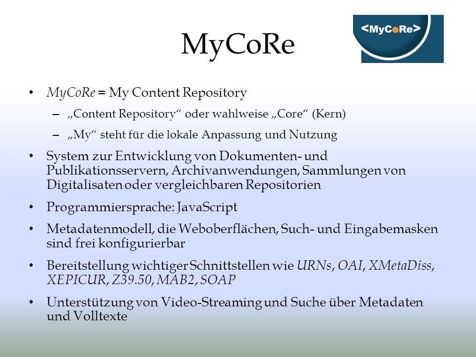 MyCoRe MyCoRe = My Content Repository