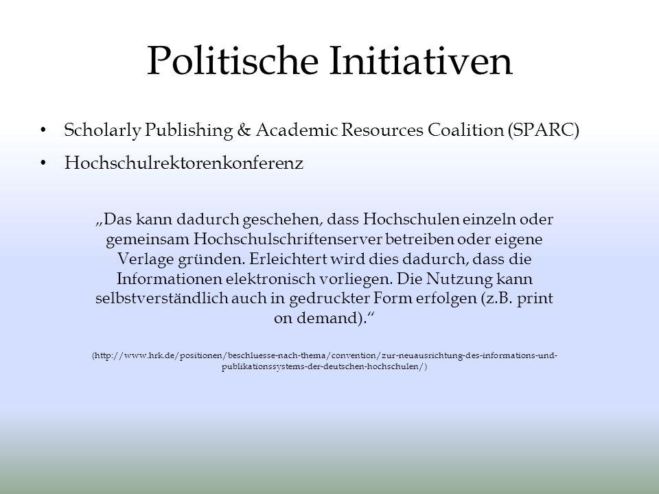 Politische Initiativen