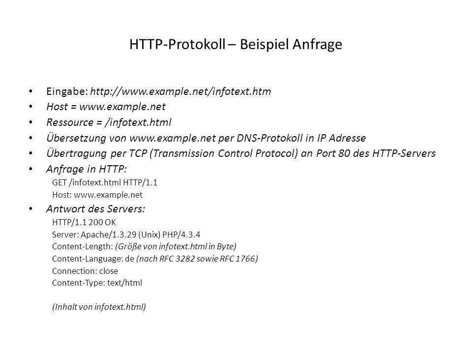 HTTP-Protokoll – Beispiel Anfrage