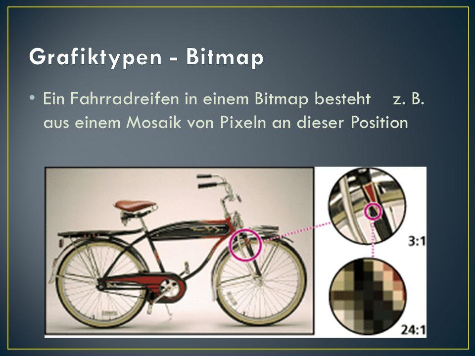 Grafiktypen - Bitmap Ein Fahrradreifen in einem Bitmap besteht z.