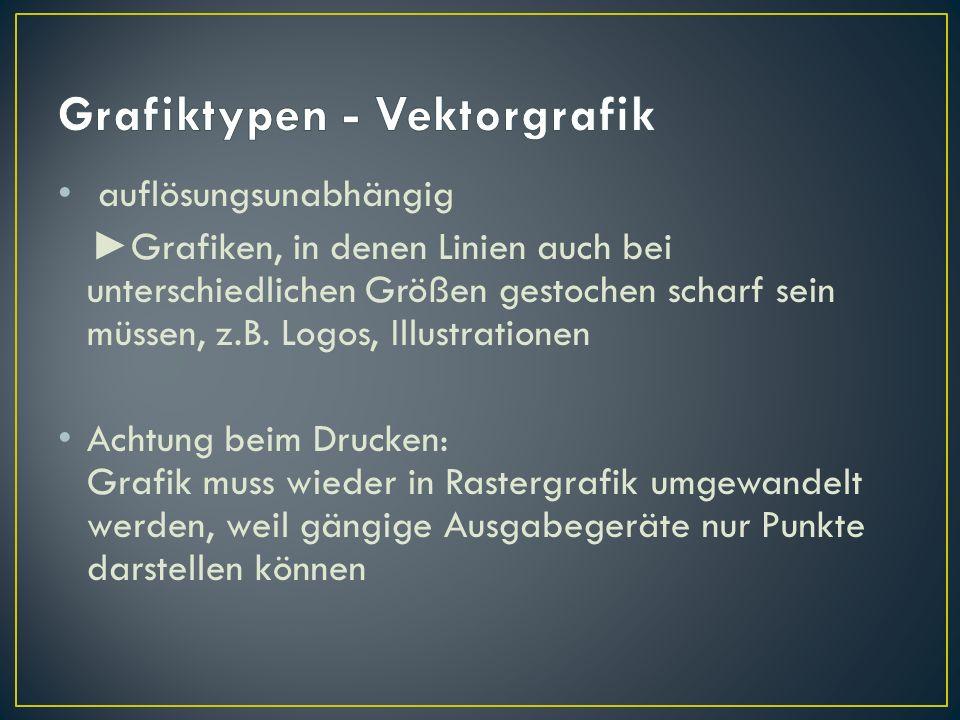 Grafiktypen - Vektorgrafik