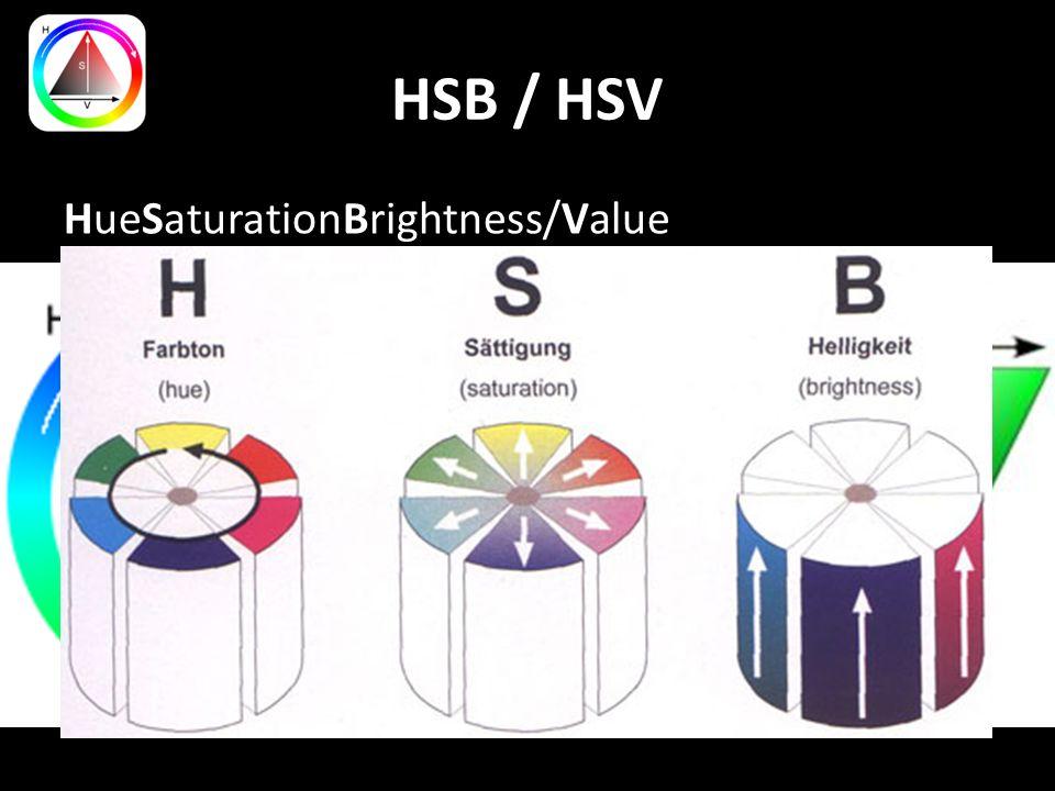 HSB / HSV HueSaturationBrightness/Value