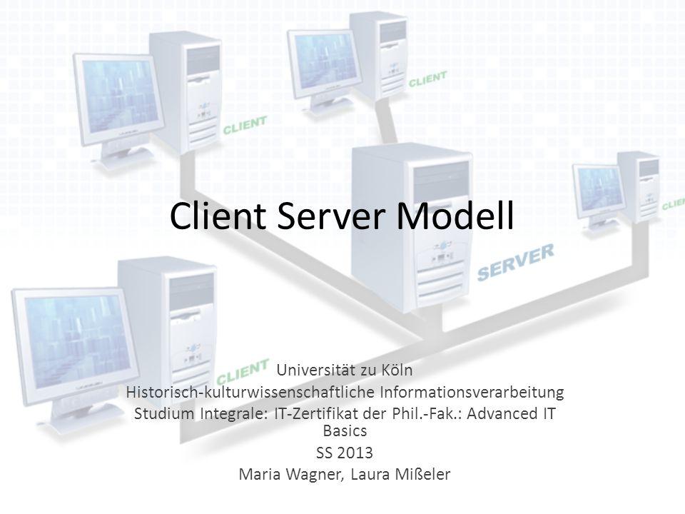 Client Server Modell Universität zu Köln