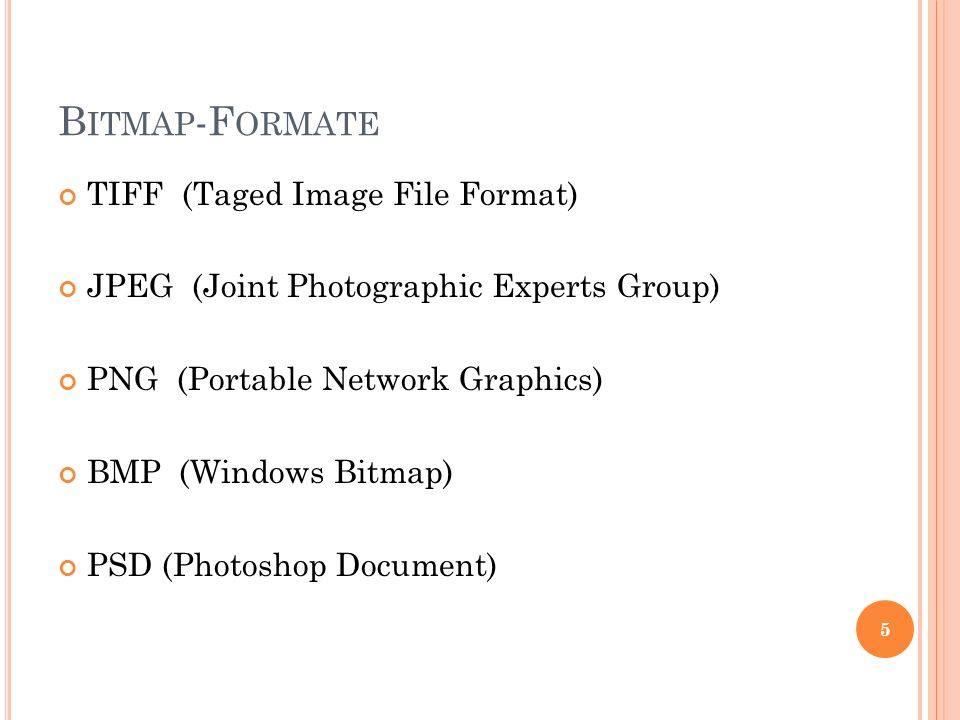 Bitmap-Formate TIFF (Taged Image File Format)