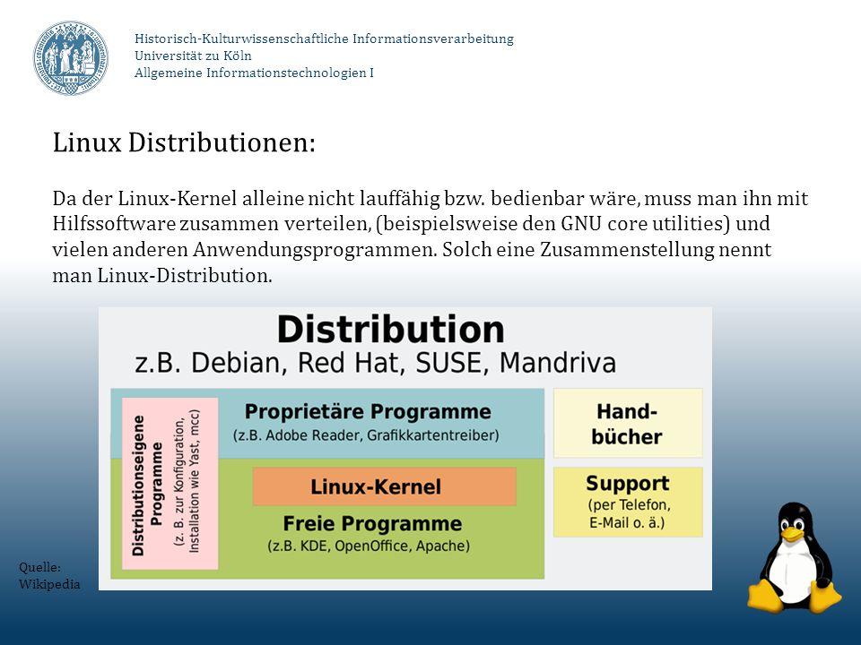 Linux Distributionen: