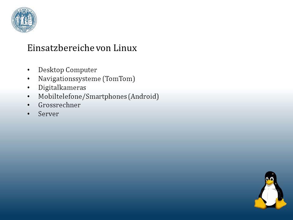 Einsatzbereiche von Linux