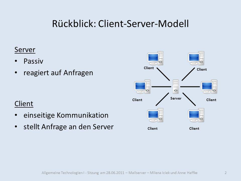 Rückblick: Client-Server-Modell