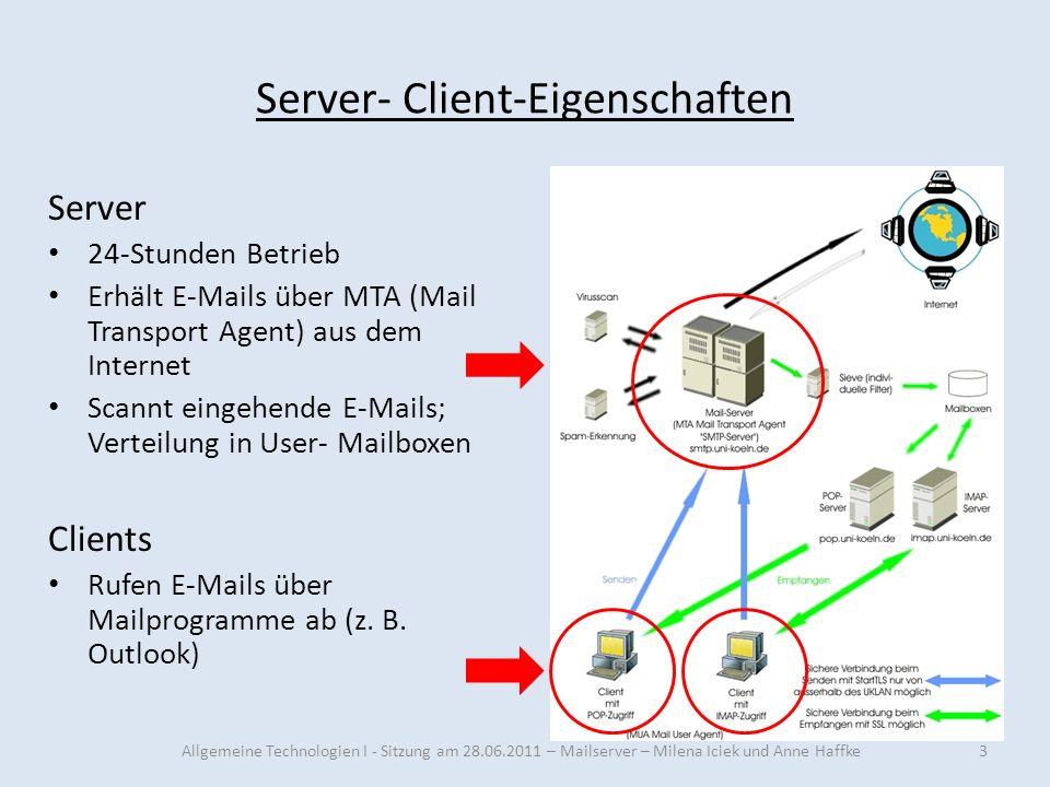 Server- Client-Eigenschaften