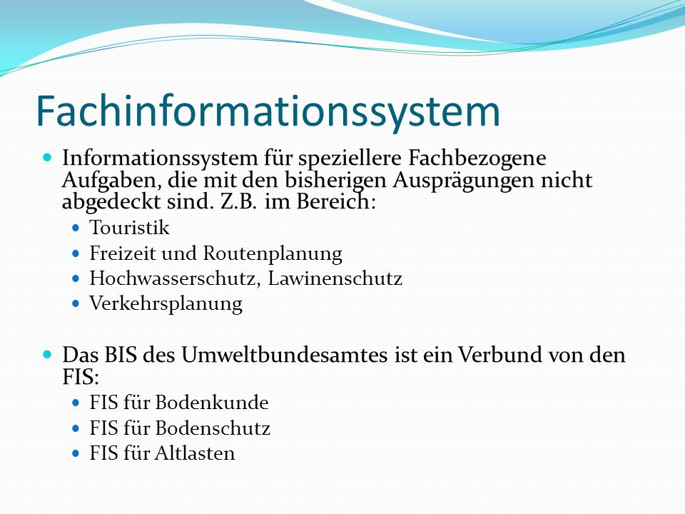 Fachinformationssystem