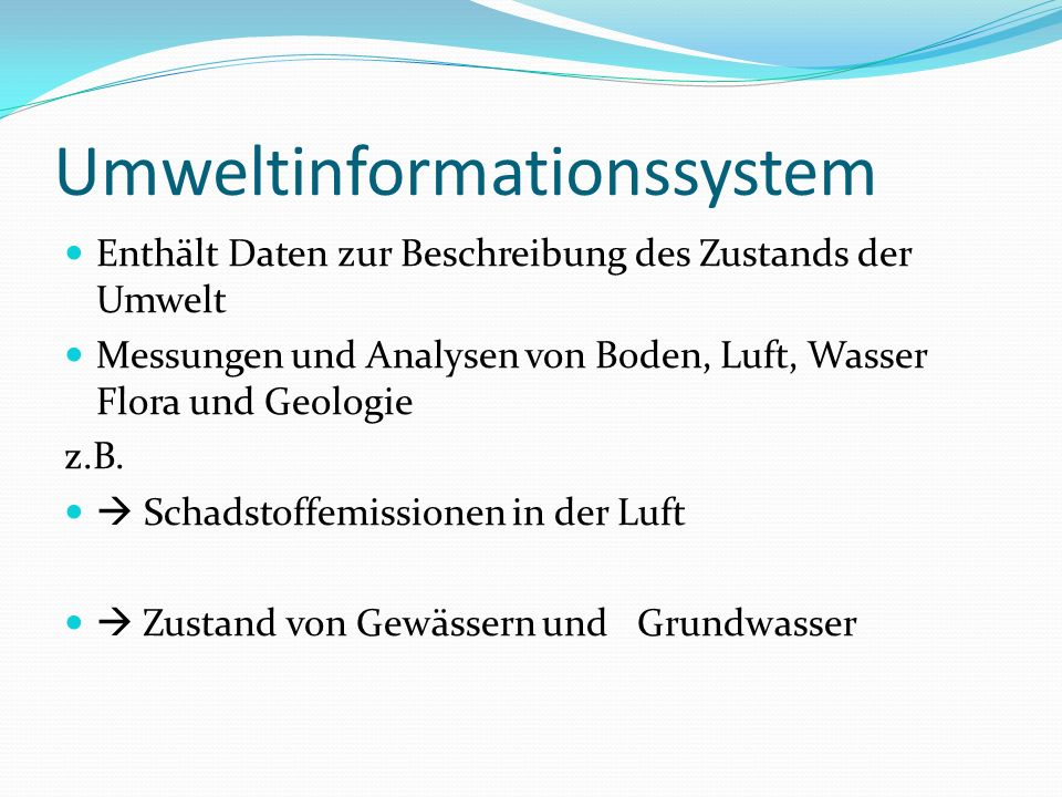 Umweltinformationssystem