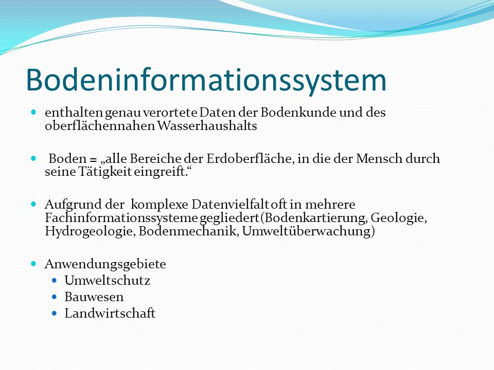 Bodeninformationssystem