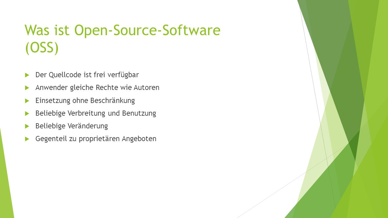 Was ist Open-Source-Software (OSS)