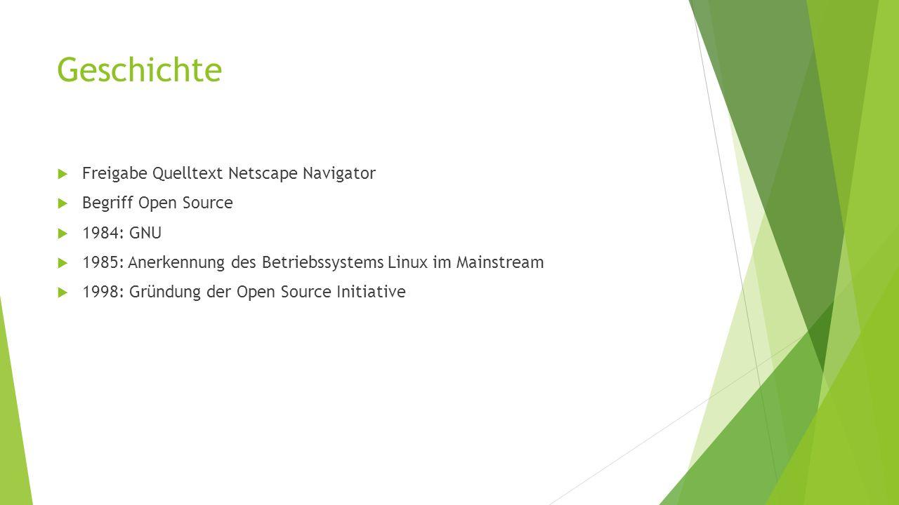 Geschichte Freigabe Quelltext Netscape Navigator Begriff Open Source