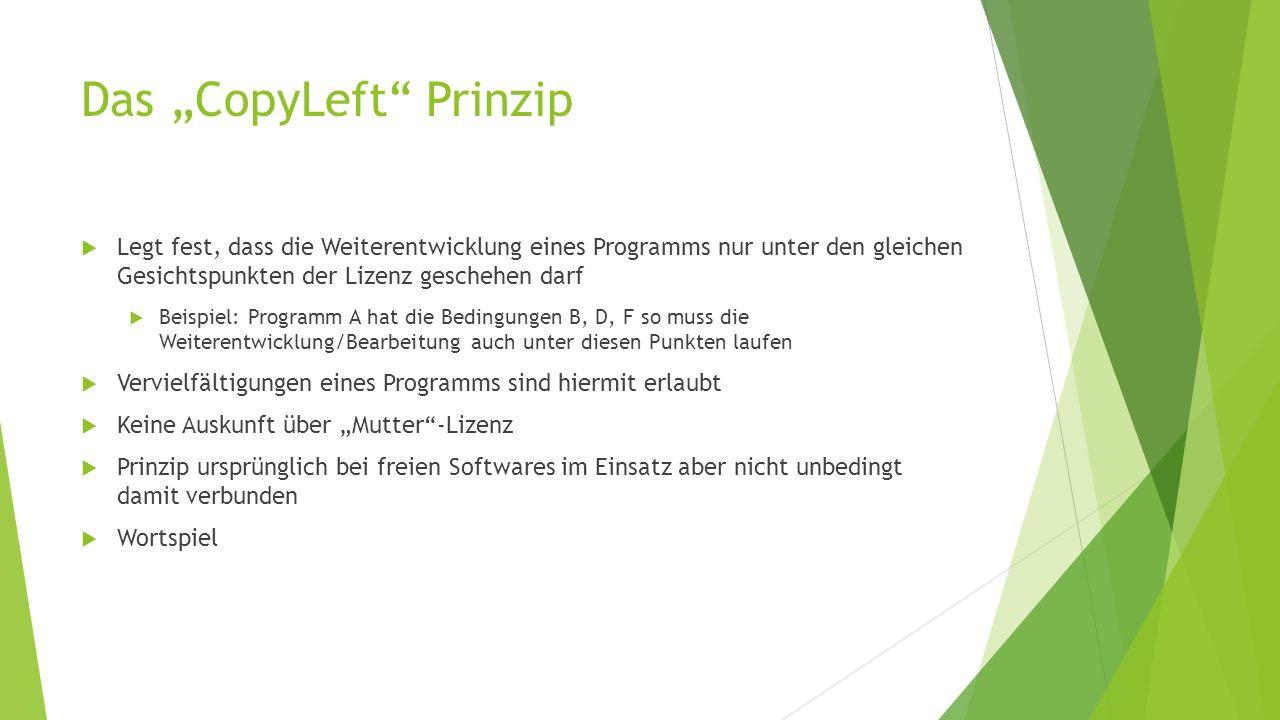 "Das ""CopyLeft Prinzip"