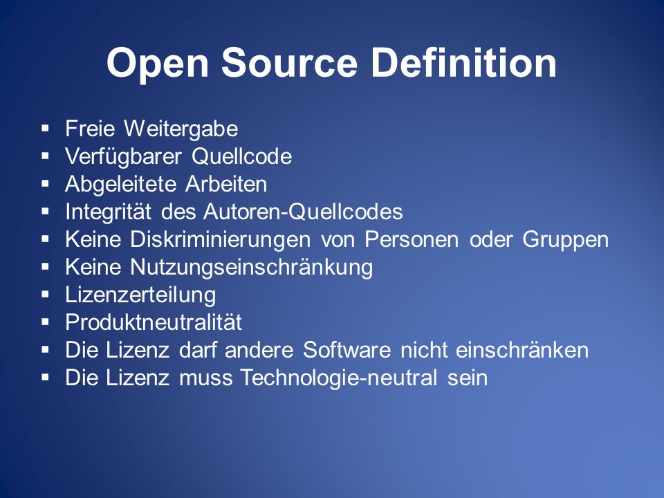 Open Source Definition