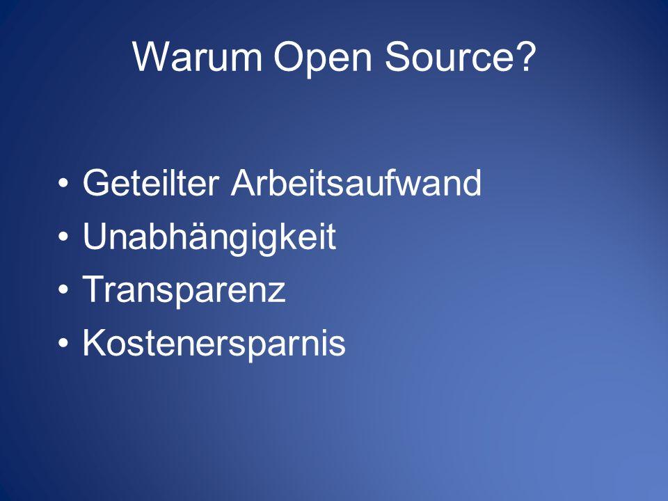 Warum Open Source Geteilter Arbeitsaufwand Unabhängigkeit Transparenz