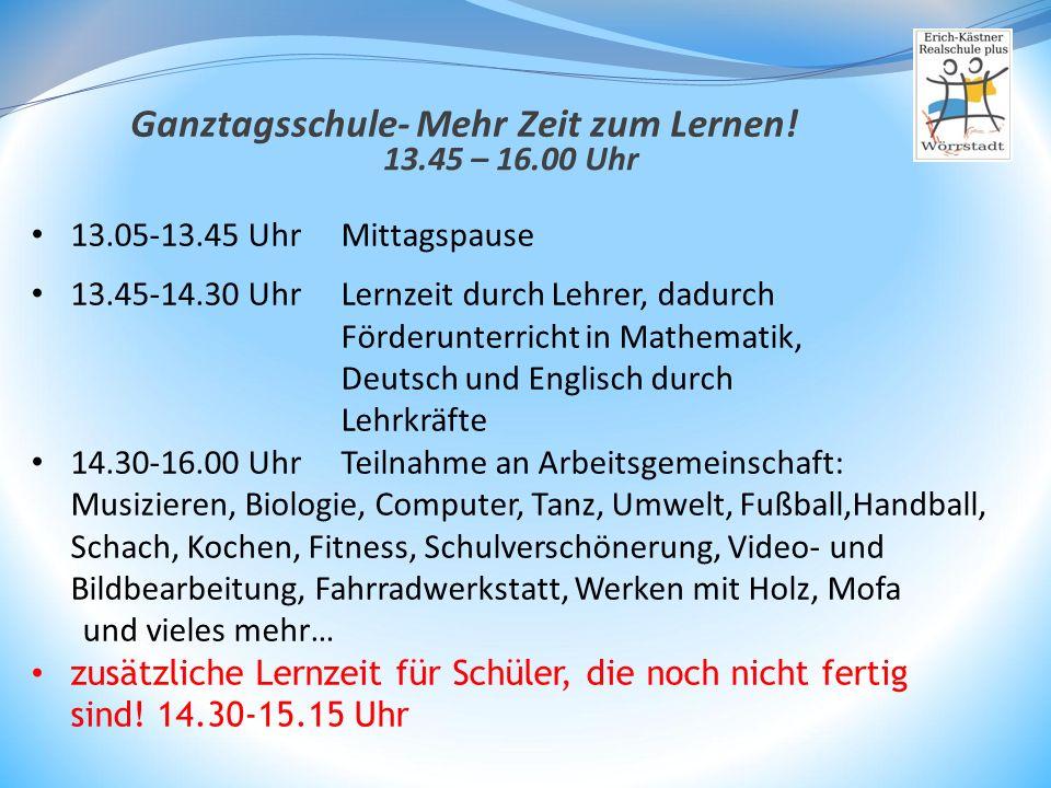 Ganztagsschule- Mehr Zeit zum Lernen!