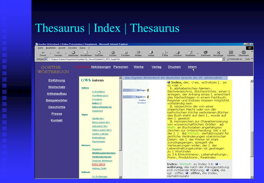 Thesaurus | Index | Thesaurus