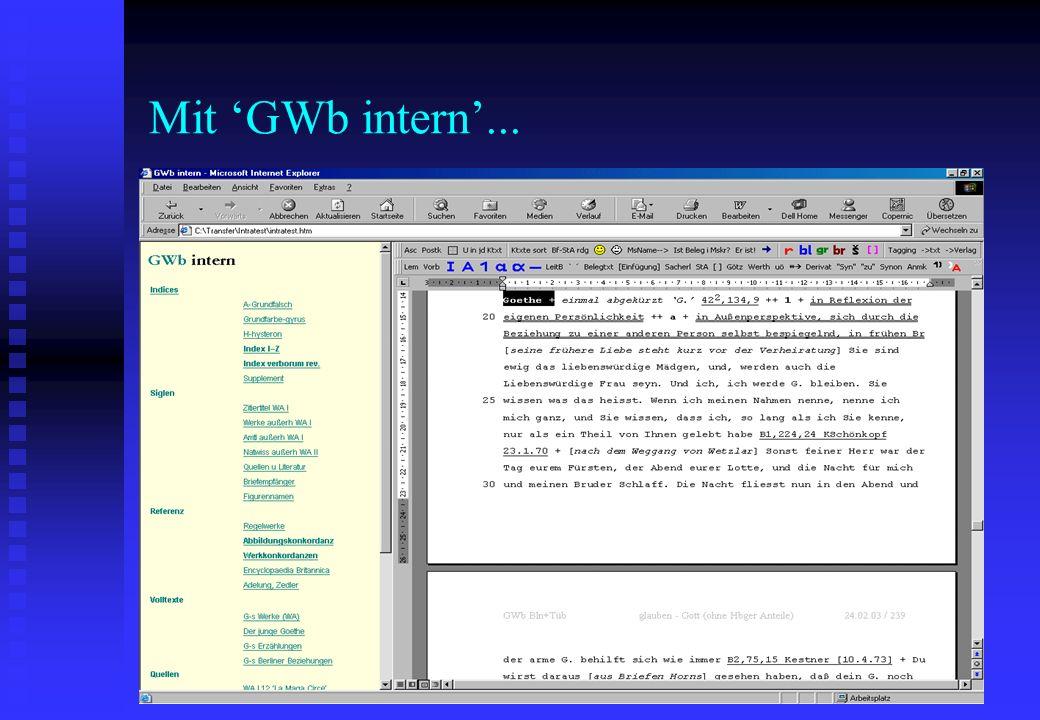 Mit 'GWb intern'...