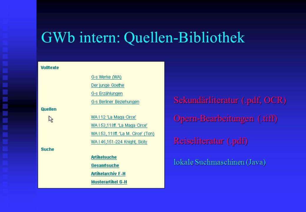 GWb intern: Quellen-Bibliothek