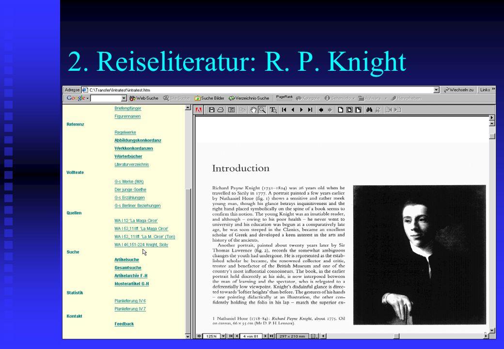 2. Reiseliteratur: R. P. Knight