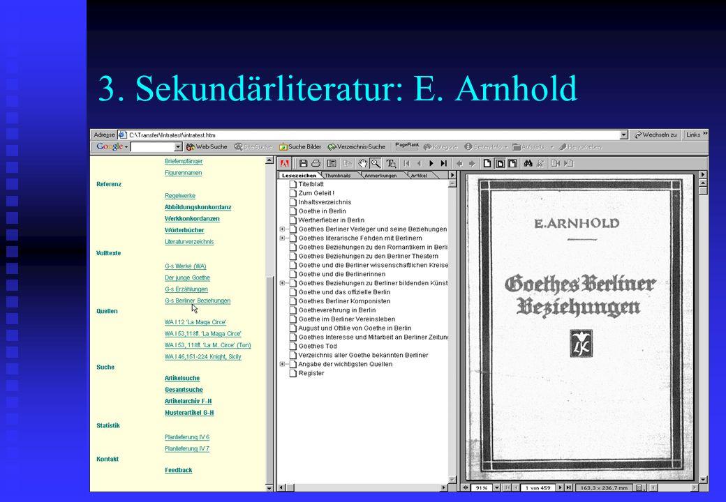 3. Sekundärliteratur: E. Arnhold