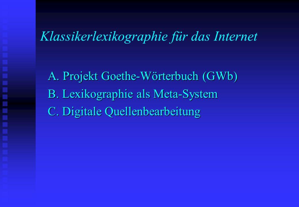 Klassikerlexikographie für das Internet