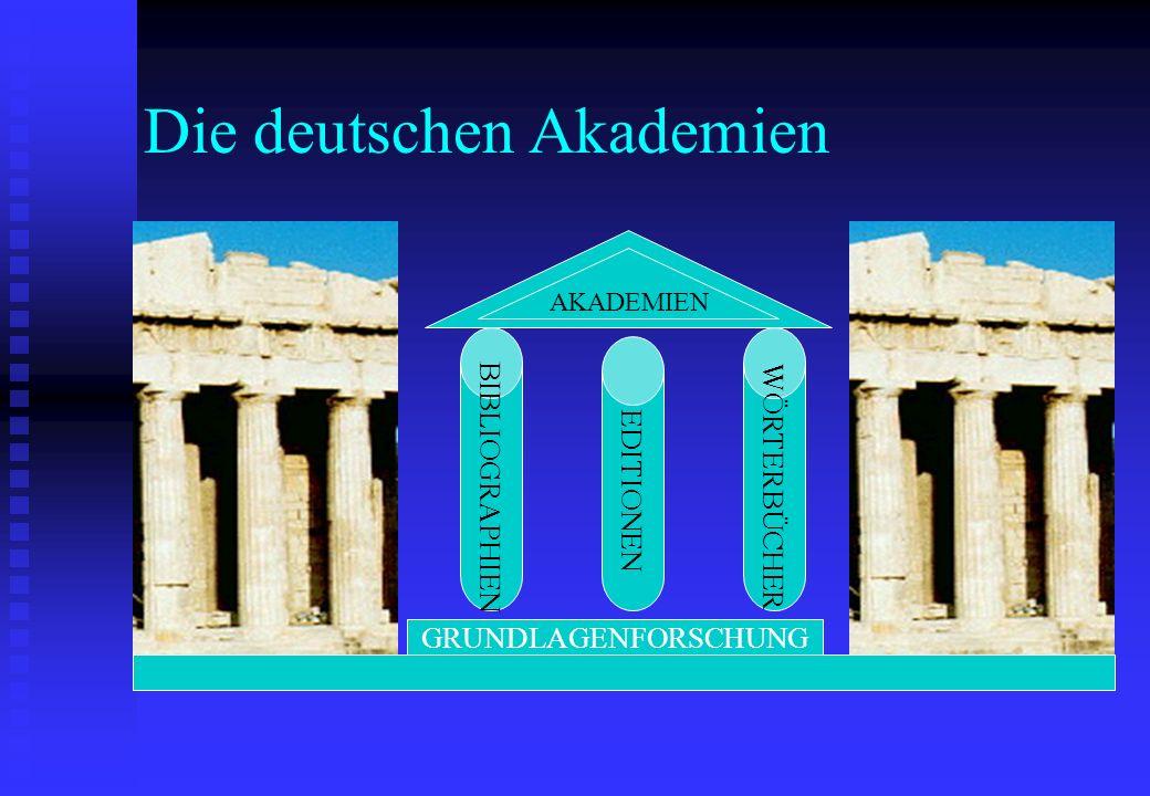 Die deutschen Akademien