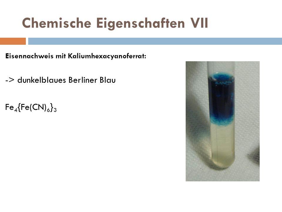 Chemische Eigenschaften VII