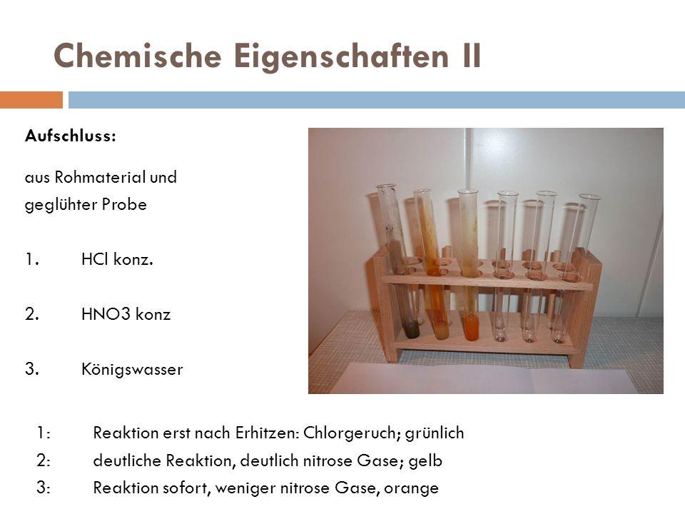 Chemische Eigenschaften II