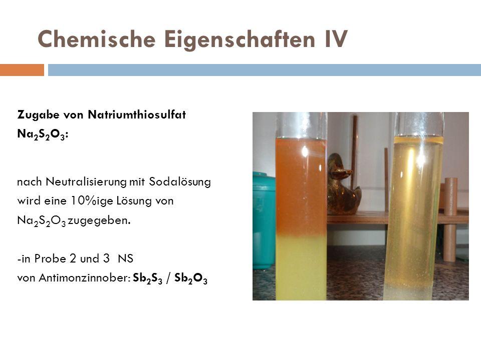 Chemische Eigenschaften IV