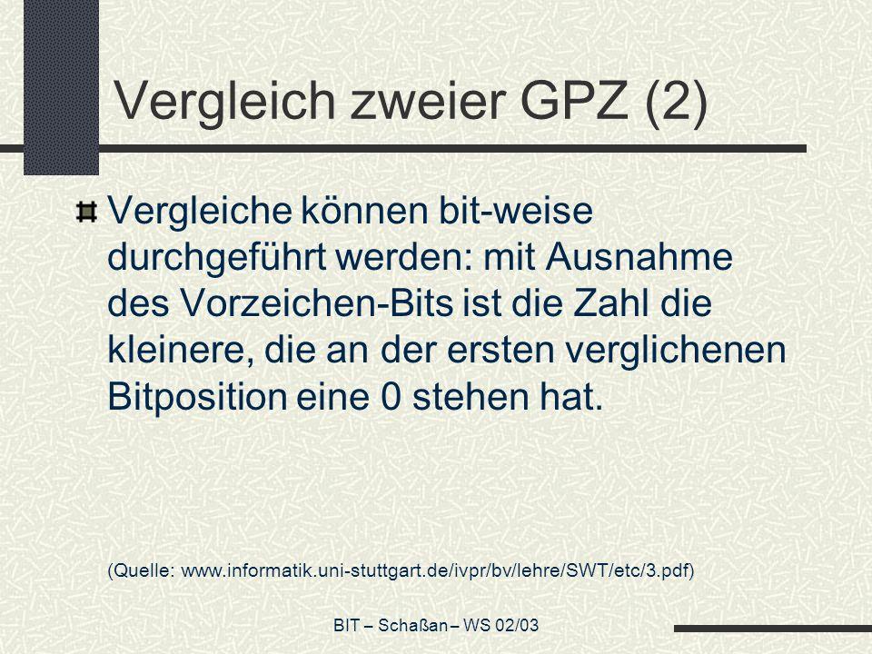 Vergleich zweier GPZ (2)