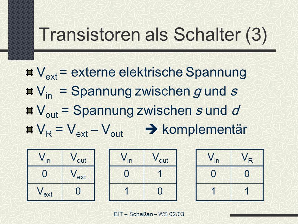 Transistoren als Schalter (3)