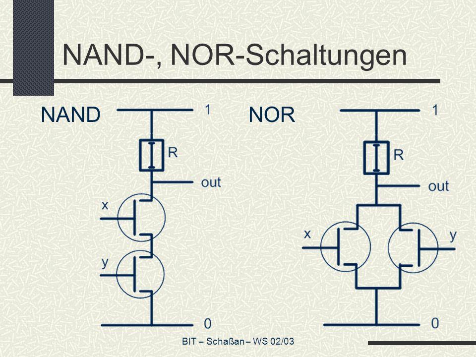 NAND-, NOR-Schaltungen