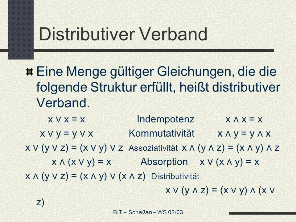 Distributiver Verband
